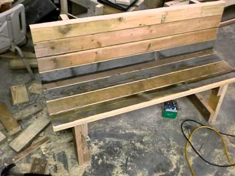 Lovely GArden Bench From Reclaimed Wood By Mid GA Outdoor