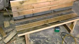 Garden Bench From Reclaimed Wood By Mid-ga Outdoor