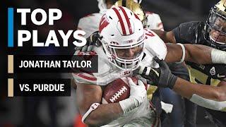 Top Plays: Jonathan Taylor Highlights vs. Purdue Boilermakers | Big Ten Football