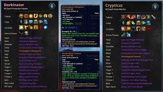 Prot Paladin and Aŗms Warrior in MDI?   Talents, Gear   World of Warcraft, Shadowlands, Season 2