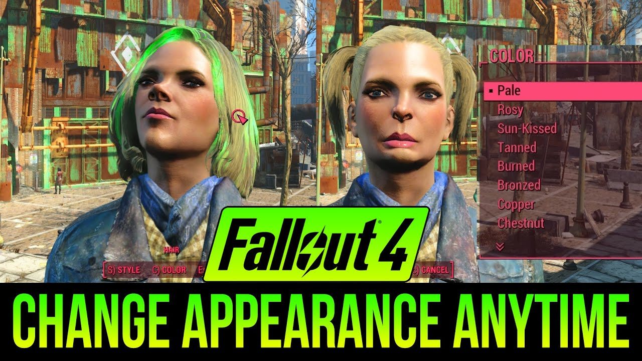 Fallout 4 Console Commands ShowRaceMenu - Change Character Appearance  (Cheat Codes)