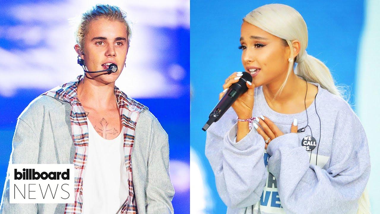 Ariana Grande & Justin Bieber's 'Stuck With U' Raised Millions for First Responders | Billboard News
