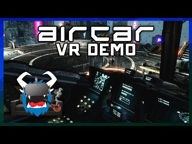 AIRCAR VR - Flying Around Delivering Things in a Cyberpunk City - Lounging w/ Larry