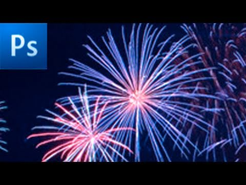 How to draw fireworks in Photoshop - YouTube