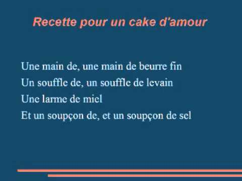 michel legrand recette pour un cake d 39 amour peau d 39 ne wmv youtube. Black Bedroom Furniture Sets. Home Design Ideas