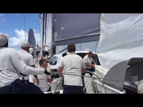 Onboard Sojana at Antigua Sailing Week 2017