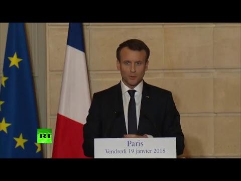 Conférence de presse d'Emmanuel Macron et Angela Merkel