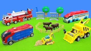 Paw Patrol Ultimate Fire Trucks in Action & Big Vehicles Toys Unboxing for Kids