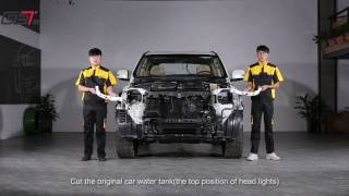 Установка рестайлинага в стиле 2016 года на Toyota Land Cruiser LC 200 2007 - 2015