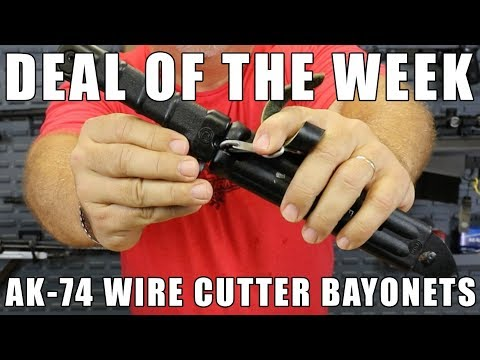 Deal Of The Week: AK-74 Wire Cutter Eastern Block or Bulgarian Diver Style Bayonets