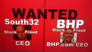 Warning wanted danger BHP mining stock fraud traitor BHP CEO Mike Henry stock traitor fraud Bhp com