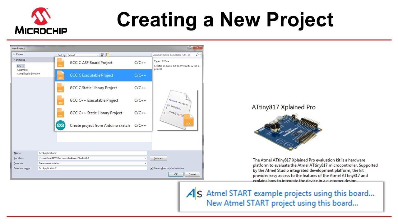 Getting Started with Atmel Studio 7 - Episode 7 - Creating a New Project