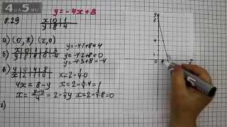 Упражнение 8.29. Алгебра 7 класс Мордкович А.Г.