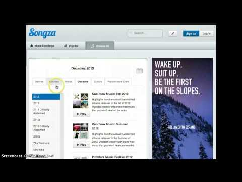 How to use Songza