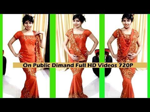 How To Wear Mermaid Fish Cut Saree On Public Demand Again Hd 720P Videos | Looking Slim Style Saree