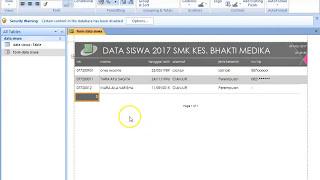 cara membuat report pada ms access dengan mudah