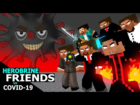 Herobrine And Friends Vs Covid-19 : Minecraft Monster School