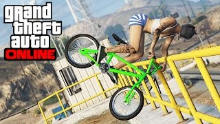 GTA 5 Epic BMX tricks #14