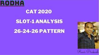 CAT 2020 SLOT - 1 ANALYSIS
