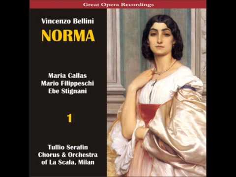 Maria callas vincenzo bellini norma 1 act 1 scene 1 - Casta diva lyrics ...