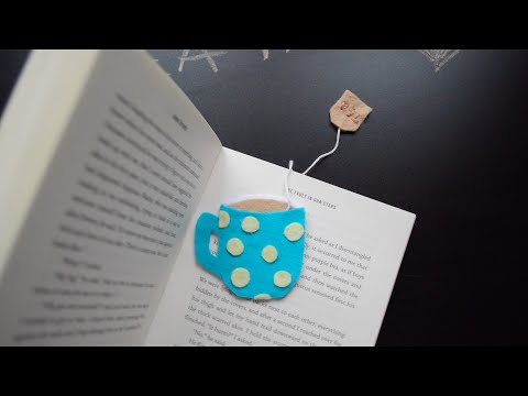 Back to school DIY Bookmarks- tea cup, heart, mustache | Creative Twins