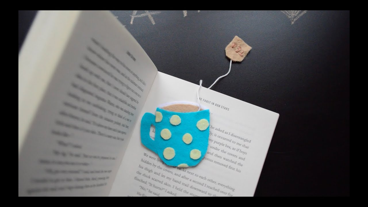 Back to school diy bookmarks tea cup heart mustache for Simple bookmarks