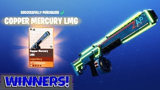 FORTNITE PvE : MERCURY LMG FIRST LOOK! & Giveaway Winners
