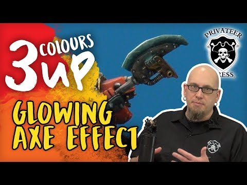 3 Colours Up: Painting A Glowing Axe Effect