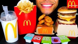 MCDONALD'S CHICKEN NUGGETS BIG MAC FRIES   OREO MCFLURRY ICE CREAM   MUKBANG ASMR EATING
