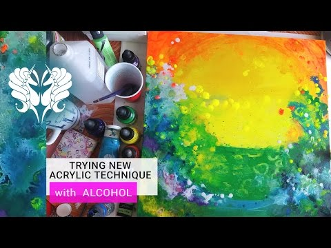 Summer Wave – acrylic painting by Lana Chromium – New technique