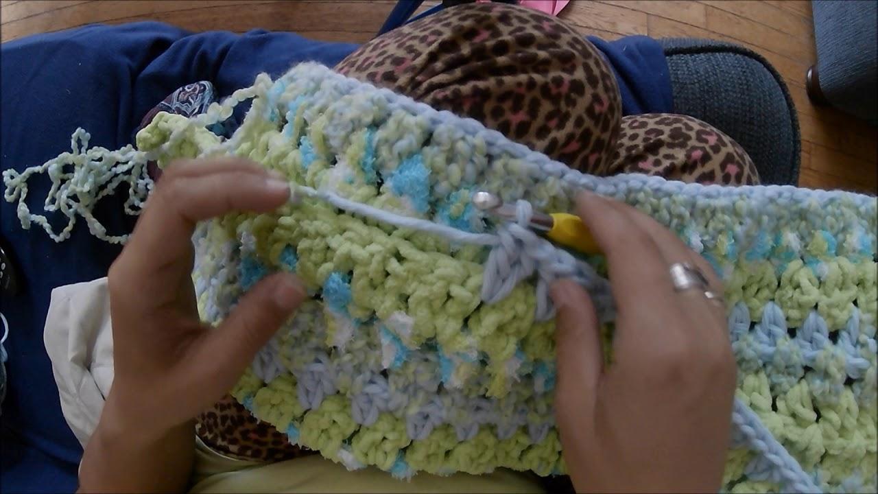 Easy Baby Blanket Using Bernat Baby Bundle Yarn Crochet Youtube