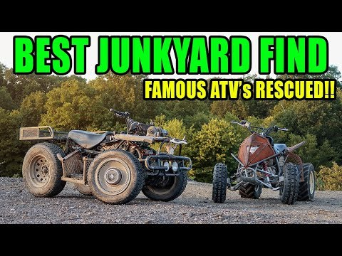 We Found FAMOUS ATV'S IN A JUNKYARD!! (The Outsiders Quads)