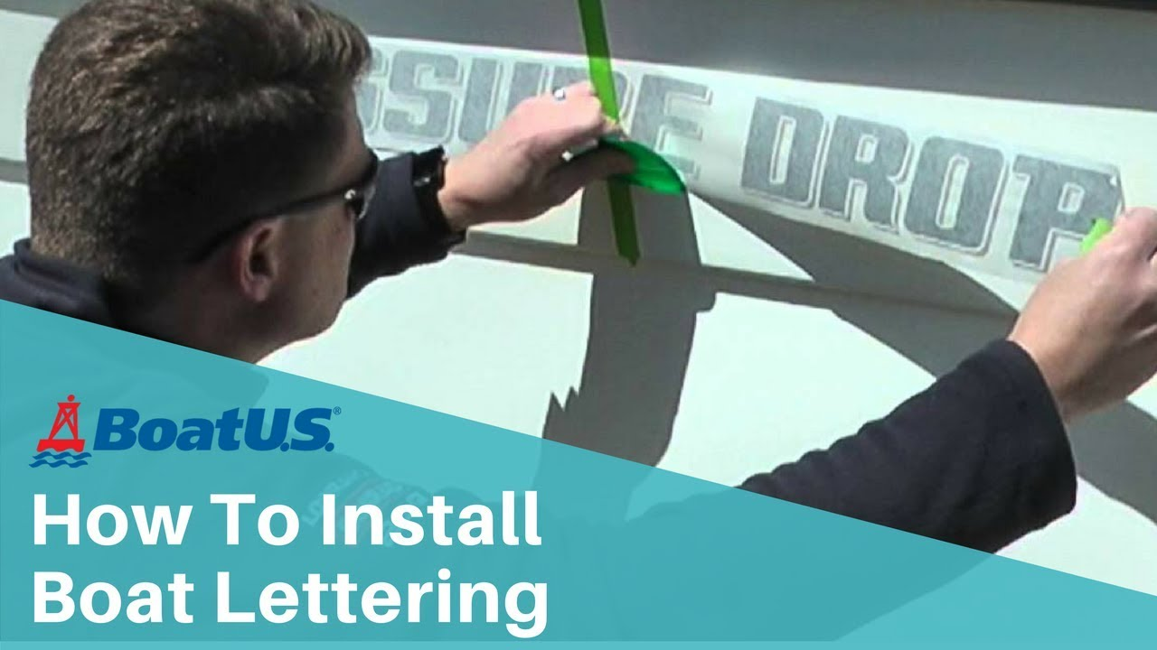 How To Install Boat Lettering YouTube - Boat decals amazon   easy removal
