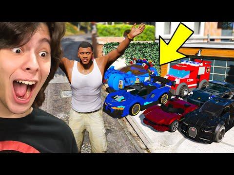 COLECIONANDO CARROS DE LEGO NO GTA 5!!
