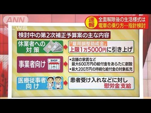 """""""全面解除""""総理会見のポイント 新たな給付金など(20/05/25)"""