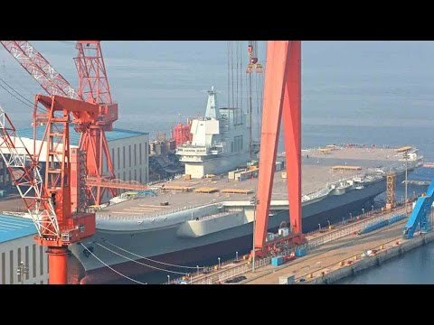 Thumbnail: China's first homemade aircraft carrier Type 001A ready to enter the water
