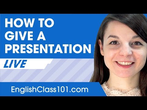 How to Give a Presentation in English - Basic English Phrases