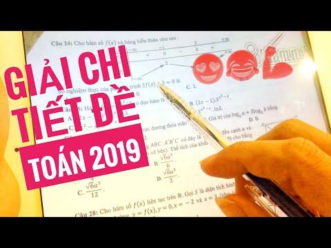Giải chi tiết đề toán chính thức THPT 2019 - Đáp án đề Toán 2019🔥