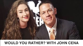 John Cena Plays 'Would You Rather?' | Blockers Interview: Amber Doig-Thorne