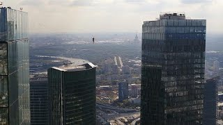 Moscow marks City Day with daring skywalk