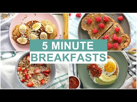 EASY 5 Minute Breakfast Recipes | Healthy Breakfast Ideas