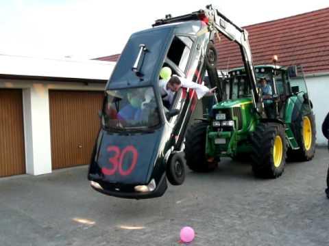 3 X 30er Geburtstag Ford Fiesta Crash Stunt Motorschaden