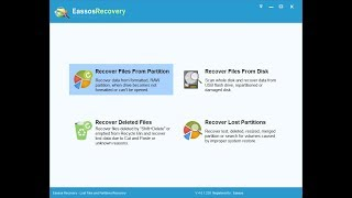 How to recover lost data with Eassos Recovery?