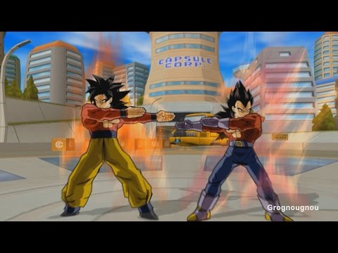 Vegeta GT and Goku Fusion Dance : Gogeta SSJ4 VS Omega Shenron (Dragon Ball Z Budokai 3 Mod)