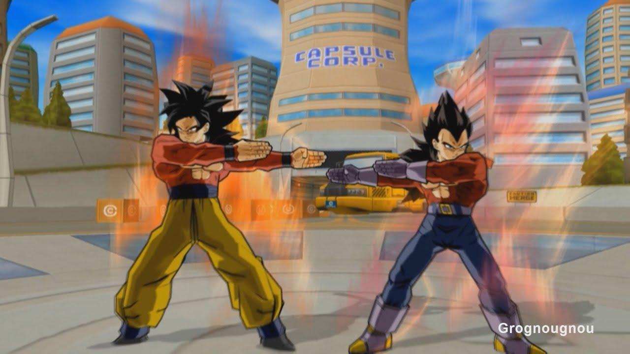 Vegeta GT And Goku Fusion Dance Gogeta SSJ4 VS Omega
