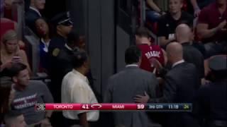 Goran Dragic Head Injury | Raptors vs Heat | 3.11.17 | 16-17 NBA Season
