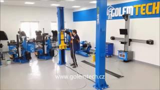 Dvousloupový hydraulický zvedák Golemtech 4000 Kg Profi - montáž