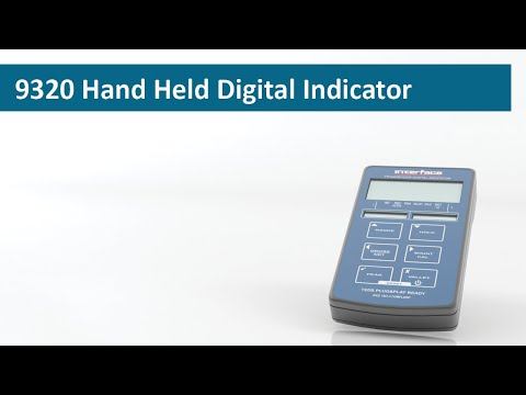 Interface Hand Held Digital Load Cell Indicator