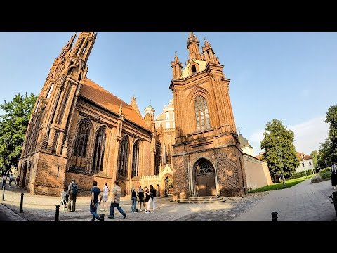 Vilnius, Lithuania. St. Anne's and Bernardine Churches. A Walk Around and Inside