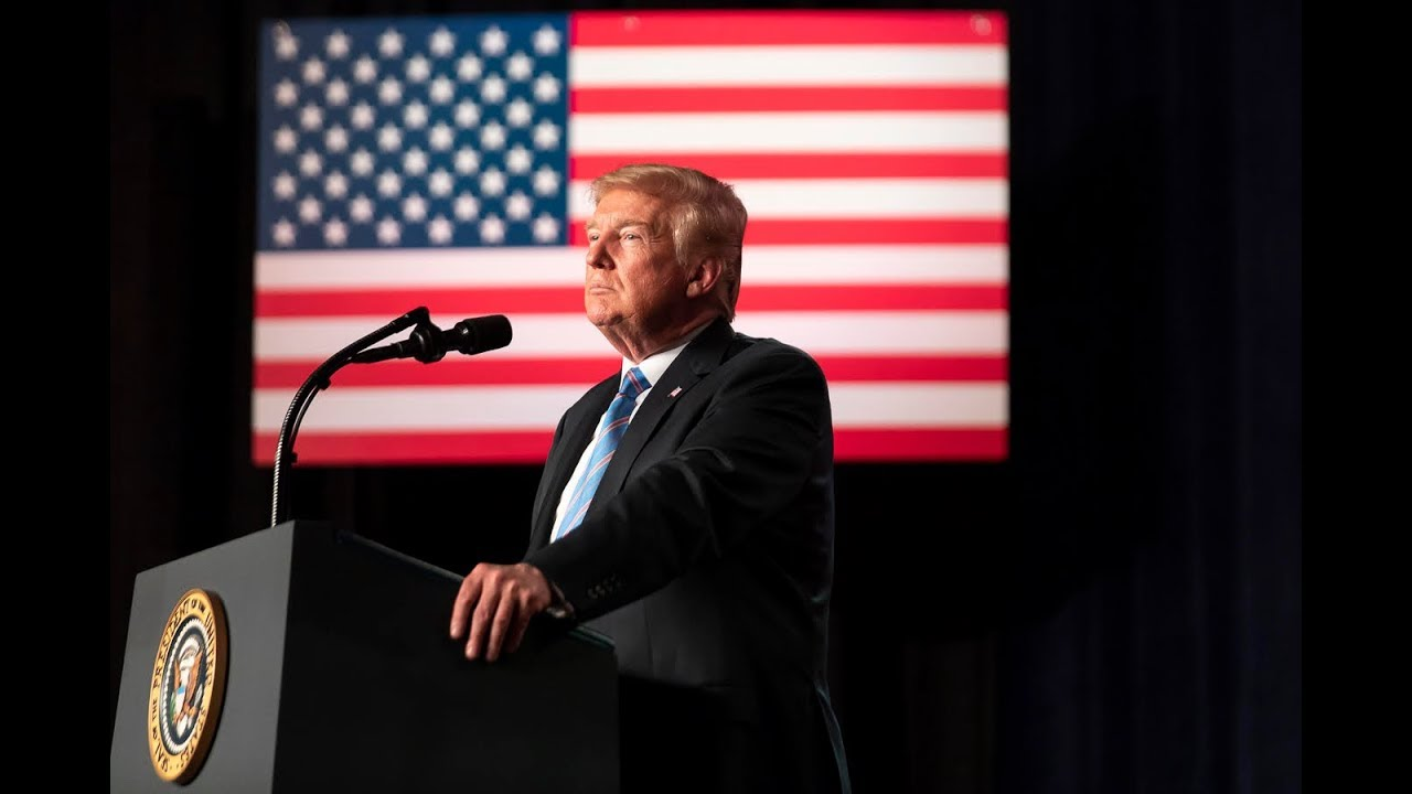 The White House President Trump Delivers Remarks at the American Veterans 75th National Convention